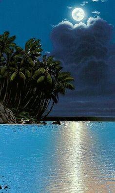 Moon paradise, although i heard it often said, no man is an island.