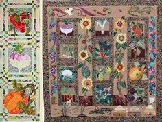 """Victory Garden from Glorious Color - quilt fabric and kits from """"Museum Quilts"""", """"Passionate Patchwork"""", and """"Kaleidoscope of Quilts"""" by Kaffe Fassett & Liza Lucy  http://www.gloriouscolor.com/store.php?cat=128"""