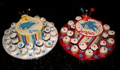 Twin cakes | I've made these twins' cakes for the past few y… | Flickr