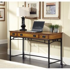 Lowest price online on all Home Styles Modern Craftsman Executive Desk in Deep Brown - 5050-15
