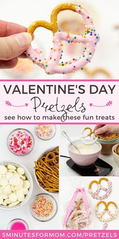 Dipped and Decorated Valentine Pretzels - Get expert tips for making these tasty Valentine