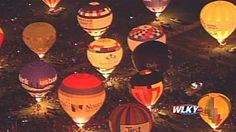 LOUISVILLE, Ky. — KENTUCKY DERBY FESTIVAL ... More than 30 hot-air balloons are set to light up the night sky on Friday April 25.