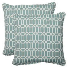 Pillow Perfect Outdoor Square Throw Pillow Set of 2 - Rhodes : Target