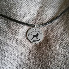 Labrador mom pendant necklace Are you a lab mom, or do you know someone is?? This is a perfect gift for all proud lab moms!! Hand stamped stainless steel pendant. hello pawsh Jewelry Necklaces