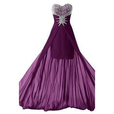 Sunvary 2016 Bead Chiffon High Low Prom Party Dresses Homecoming Gowns ($140) ❤ liked on Polyvore featuring dresses, gowns, purple evening dresses, beaded gown, chiffon gown, homecoming dresses and purple dress