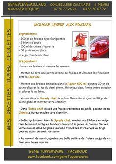 TUPPERWARE mousse légère aux fraises