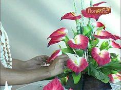 Cursos Flor Arte - Arranjo Para Coluna - YouTube