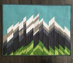 "Majestic Mountains by Amy Ellis - Make your own mountain quilt with Amy's paper pieced pattern. 9x12"" or 18x24"" perfect mini size to hang on the wall or on a table top.  Click through to check out the pattern!  - AmysCreativeside.com"