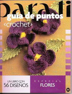 Flores en crochet con diagramas