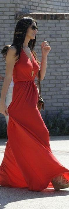 Shoes - DKNY Purse - Chanel Sunglasses - Ray Ban Kassy Multi Strap Espadrille similar style dress Women's Cross-Smocked Maxi Dresses