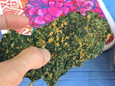 "Healthy holiday snacking! - Solving your ""no-dehydrator"" kale chip problem!!  No more burned, bitter, nasty-tasting kale chips out of your oven. These kale chips are ""oven-dehydrated"" so they dry out rather than cook. These are crisp, delicious, and made with a savory, oil-free dressing!  :D"