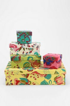 Floral Box - Set Of 5 #urbanoutfitters