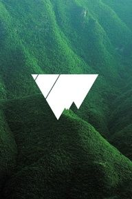 I like this logo - background combination, but I am not sure if I would recognize that it is a mountain without the background.