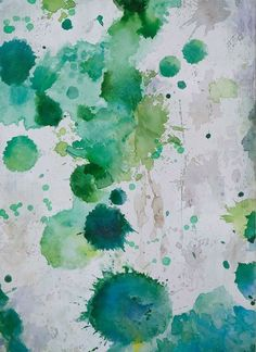 """This two-tone abstract painting features aquamarine splashes. Your painting will arrive on a sturdy wooden frame ready to hang on the wall. Please allow 3-4 weeks for delivery. - Size (inches): 32"""" H"""