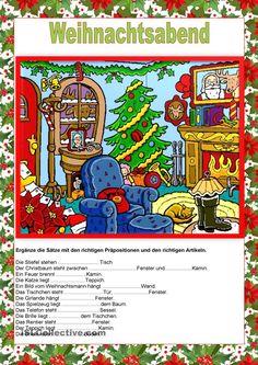 Weihnachtsabend - Präpositionen