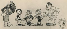 Funny Face model sheet by Ub Iwerks - 1931 / Classic Animation Art
