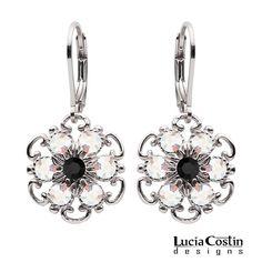 Lucia Costin Silver White Black s Earrings