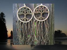 Dream Catcher rosa y azul regalo decoración Boho Macrame pared colgante árbol de…