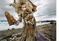 Pre-Historic Pictorials - 'Inverno' for Flair November 2010 is Caveman Couture (GALLERY)