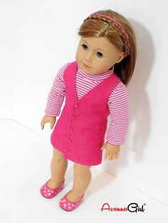 Handmade 18 Inch Doll Clothes Trendy Jumper and Turtleneck for American Girl Doll by AvannaGirl on Etsy