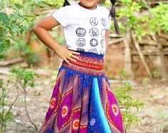 Made by Rayon Fabric 100% Hand Made 100%   Size XXL : 4-6 years  ---- Waist 18 - stretching to 33  ---- Length 27   Size XXXL : 6-8 years  ---- Waist 20 - stretching to 36  ---- Length 30ears    ***The girl in the picture was 6 years old (XXXL)  **We recommend hand washing ** The colors a bit different than it appears in the photograph  PAYMENT We accept payments via PayPal only.  SHIPPING We ship to your Address on Etsy via Thai air mail from Thailand by registered mail with tracking…