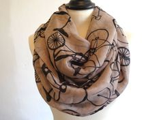 Bicycle Infinity Scarf Woman Scarfs Infinity Womens by chicdays, $14.99