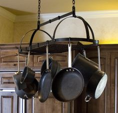 Steel Collapsible Oval Pot Rack with Woven Detail - Premier