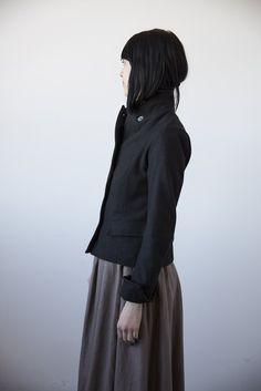 Isolde Jacket - Black Wool by Ovate | cendre