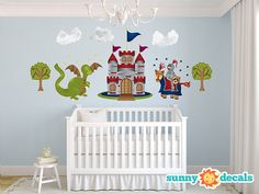 Knight, Castle, Dragon Jumbo Wall Stickers & Wall Decals for Nursery and Kids Rooms by Sunny Decals - Free Shipping