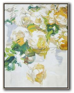 Vertical Abstract Flower Oil Painting by Jackson – CZ Art Design