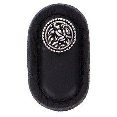 Vicenza Designs San Michele Circle Novelty Knob Strap Color: Black, Finish: Polished Nickel