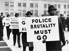 """Police Brutality Must Go,"" Black Muslim Protest, 1963 Photo credit: Gordon Parks"