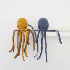 We love these octopus friends, crocheted by using DMC Just Natura Cotton. Dmc, Crochet Toys, Octopus, Tweety, Hats, Cotton, Instagram, Character, France