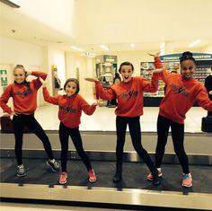 Maddie Ziegler, Mackenzie Ziegler, Kendall Vertez, and Nia Frazier