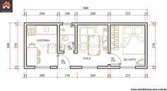 Projetos de casas pequenas com 1 quarto – Projetos de Casas
