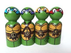 the warrior collection  teenage mutant ninja by thewhimsicalsweet, $36.00