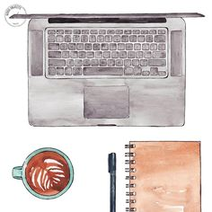 Good objects - Bed office and back to emails  #goodobjects #watercolor #illustration