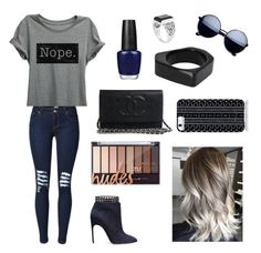 """""""Casual"""" by acooperu ❤ liked on Polyvore featuring OPI, Sergio Rossi, Marni and Savannah Hayes"""