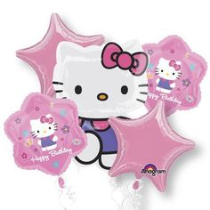 HELLO KITTY BALLOON Party Favor Supplies Birthday BOUQUET Mylar Decoration x5 by Lgp *** Find out more about the great product at the image link.Note:It is affiliate link to Amazon.