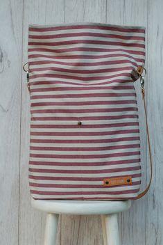 """Umhängetaschen - Rolltop Tasche """"TJELLE"""" // Streifen - ein Designerstück von luett-und-Lang bei DaWanda"""