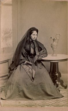 "The Widow, Albumen Carte de Visite, Circa 1862 ""A. A. Baldwin, Photographer, Rooms over Post Office, Ludlow, Vt."""
