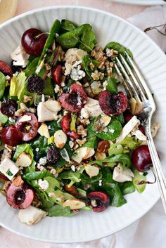 Cherry Winter Wheat Berry Salad - Simply Scratch #wheatberry #wheat #wheatlovers #wheatgrass #wheatberries #farming #healthy #homegrown #Farm #wheatrecipes #food #foodie #healthylifestyle #healthyeating