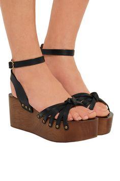 c8382620722 Isabel Marant - Étoile Zia leather platform sandals. Isabel MarantLeather  BuckleBlack ...