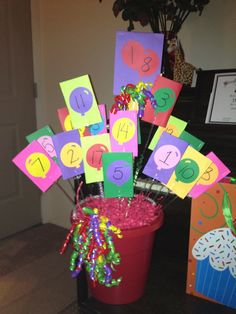 This the gift card bouquet I made for my son's 18th birthday. One gift card for every year. He loved it!