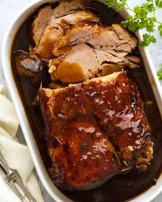 Slow Cooker Pork Roast, Pork Roast Recipes, Slow Cooker Recipes, Cooking Recipes, Crockpot Meals, Pot Roast, Game Recipes, Slow Roast Pork Loin, Pork Loin Crock Pot