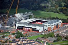 Liverpool's new Main Stand is developing well and towers above the existing stadium, as shown in these new image. #LFC