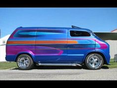 Customized and Chopped Chevy Van