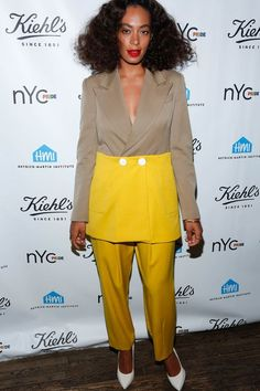Say This 5 Times Fast: Solange's Style Is Still Silently Slaying #refinery29  http://www.refinery29.com/2016/01/101954/solange-street-style-pictures#slide-24  This two-piece getup is making us rethink two-tone dressing....