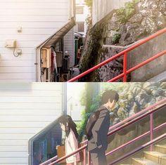 Reality or Anime? … – All Pictures Anime Vs Real Life, Real Anime, Hot Anime, Mitsuha And Taki, Tsurezure Children, Your Name Anime, Otaku, Emotional Photography, Kimi No Na Wa