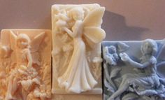 3 ANGELS- SHEA BUTTER, COCOA BUTTER, GOAT'S MILK, AND HONEY SOAP.